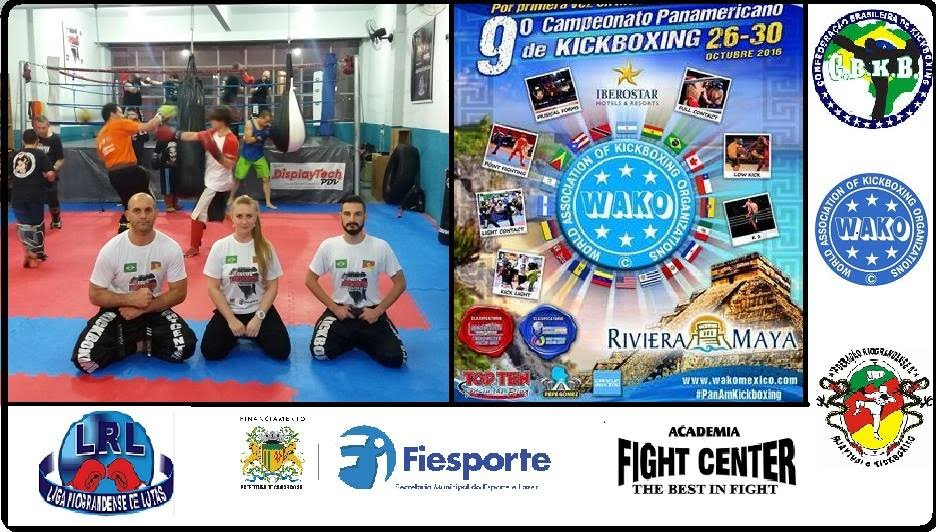 Equipe para o Campeonato Panamericano de Kickboxing - México.